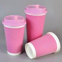 50 шт высококачественные толстые чашки из пенопласта розовые/желтые