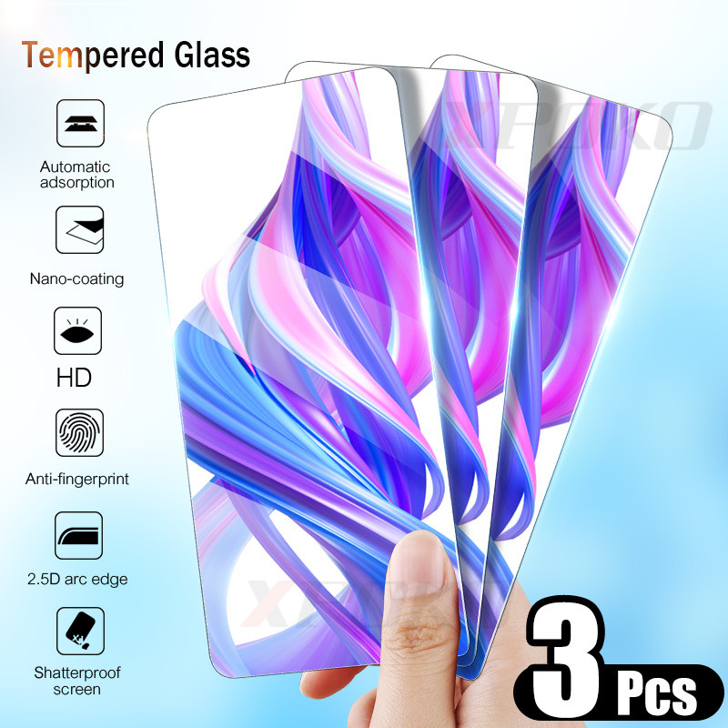 XPOKO 3Pcs 9H Tempered Glass For Huawei Honor 9 10 8 Lite 8X Screen Protector For Honor 8X 7X 7A 7C 9X Pro Glass Protective Film