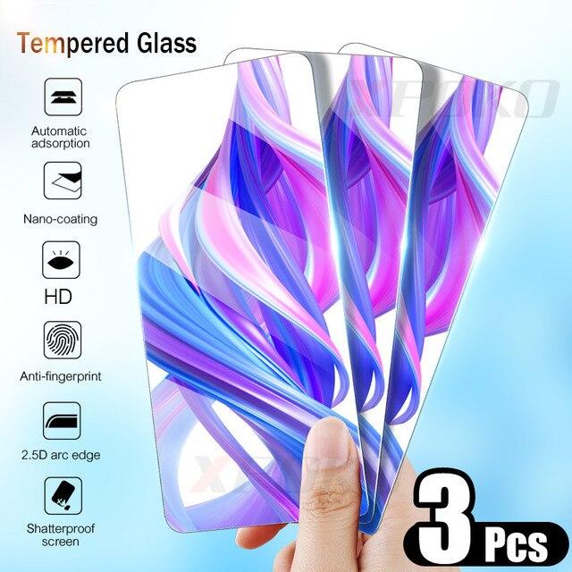 Xpoko 3 pçs 9 h vidro temperado para huawei honor 9 10 8 lite 8x protetor de tela para honra 8x 7x 7a 7c 9x pro película protetora de vidro
