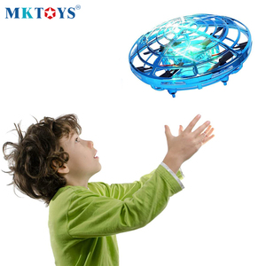MKTOYS UFO Mini Drone Toys for Kids Helicopter Infrared Induction Aircraft Flying Ball Quadrocopter Dron XMAS Gifts for Children