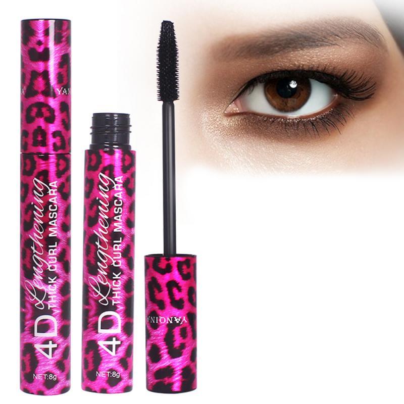 4D Silk Fiber Lash Mascara Long Curling Mascara Makeup Eyelash Black Waterproof Fiber Mascara Eye Lashes Makeup TSLM2