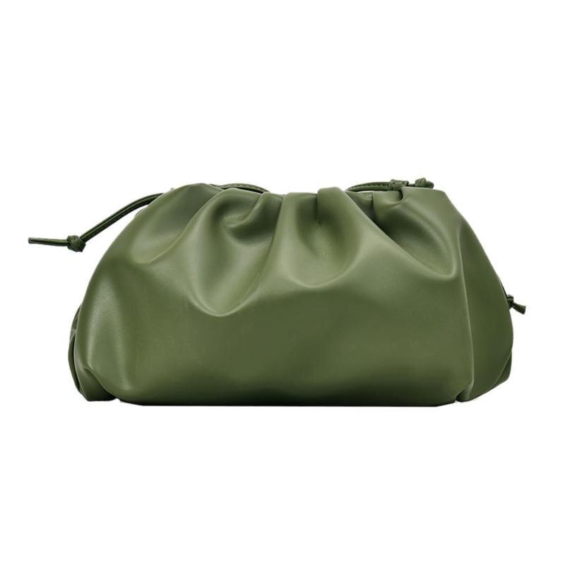 Cloud-gewickelt Weiche Leder Madame Kleine Tasche Einzelnen Schulter Schräg Knödel Tasche Handtasche Tag Kupplungen taschen