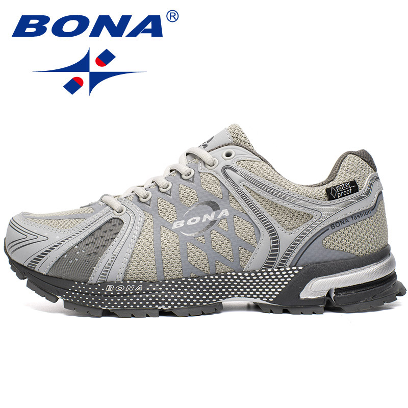 BONA 2020 Breathable Sneaker Man Running Shoes Outdoor Jogging Walking Shoes Comfortable Lace Up Waterproof Style Athletic Shoes