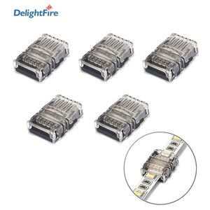 5pcs LED Connector 2/3/4/5pin Strip Connector For RGB RGBW RGBWW 2835 3528 5050 LED Strip Light Wire Terminal Splice Connector