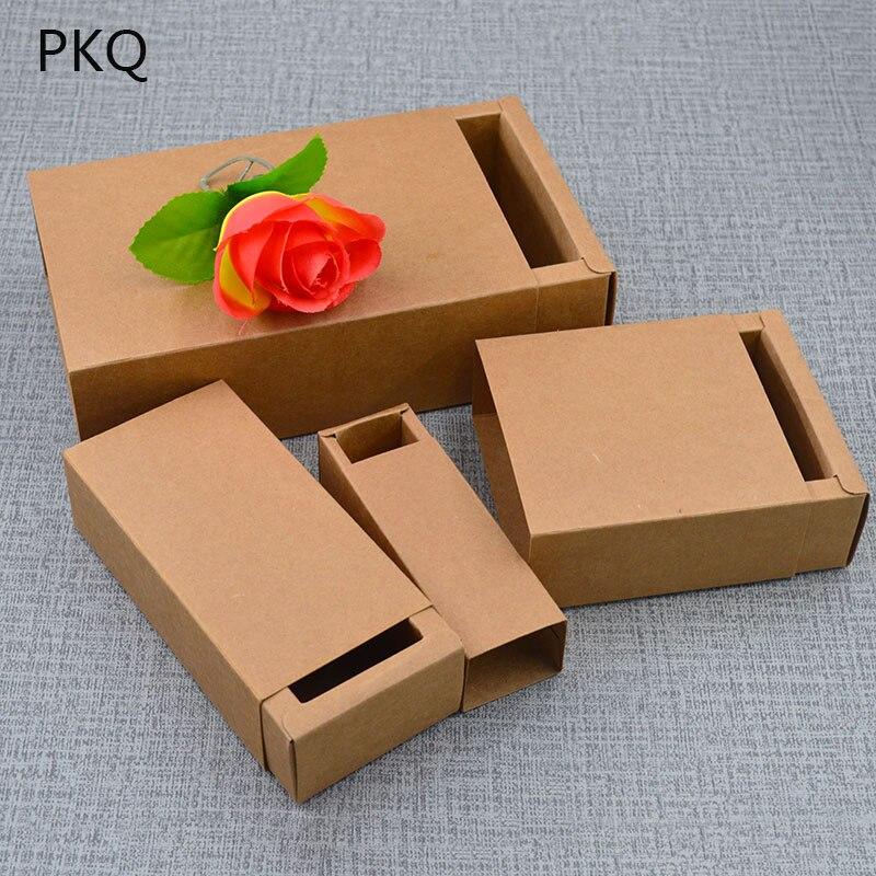20 pièces petite boîte-cadeau pour anniversaire bijoux tiroir papier boîte-cadeau faveurs de mariage boîte à bonbons à la main savon emballage carton 14 tailles