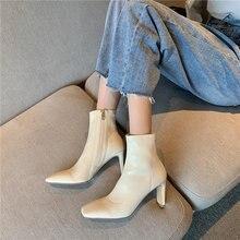 Элегантные женские полусапожки на шнурках; Туфли высоком толстом