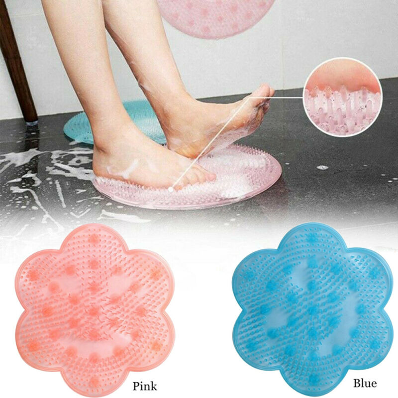 Lazy Bathroom Massage Pad Silicone Suction Cup Bath Shower Mat Non-slip