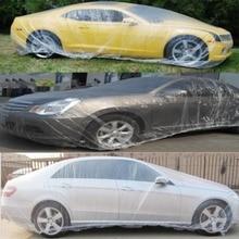 2pcs 6.6*3.8M Transparent Car Cover Large Snow Rain Protective Cover Universal Dustcoat Dustproof Anti-dirt Car Accessories