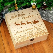 Christmas Eve Box Maple wooden Santa Claus Reindeer Snowflake Snowman engraving gift Xmas Childrens gift Home Decorations F910(China)