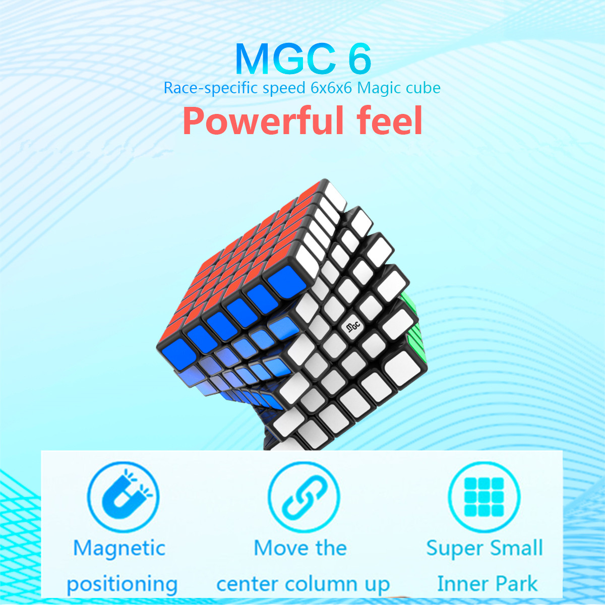YJ MGC 6  Cube  6x6 Magnetic Magic Cube Yongjun MGC 6 Magnets Puzzle Speed Cubes Educational Toys For Kids