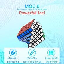Yj mgc 6 cubo 6x6 cubo mágico magnético yongjun mgc 6 ímãs quebra cabeça velocidade cubos mgc brinquedos educativos para crianças