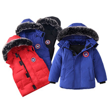 2020 New Winter Children Clothing for Boys Warm Parka Down Jacket for Baby Girls Clothes Kids Coat Snow Wear Toddler Coat 3 6t russia winter keeps warm snow kids girls clothes big fur hats down romper girls catsuit outdoor overalls for boy kids