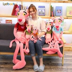 LYDBAOBO, 1 unidad, Pantera gigante de 110CM, nuevos juguetes rosa de felpa, muñecas de leopardo y Jaguar para niños, regalos de Navidad, regalo de cumpleaños para chico bebé
