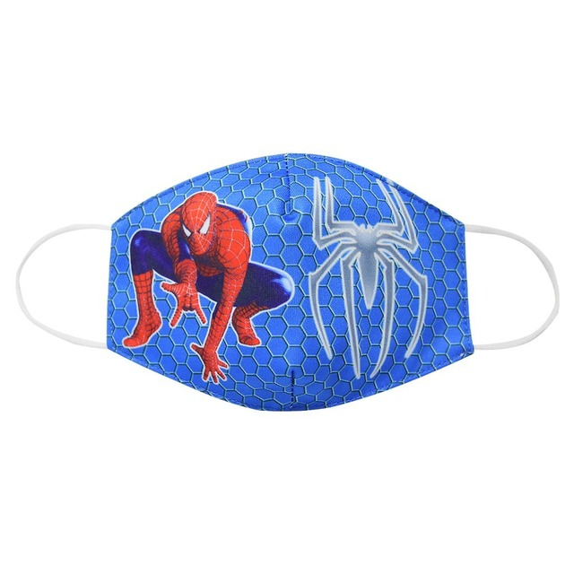 2020 Adult Kids Cotton Masks Spiderman Print Men Women Dustproof Earloop Face Mask Health Fashion Non-disposable Mouth Muffle 2