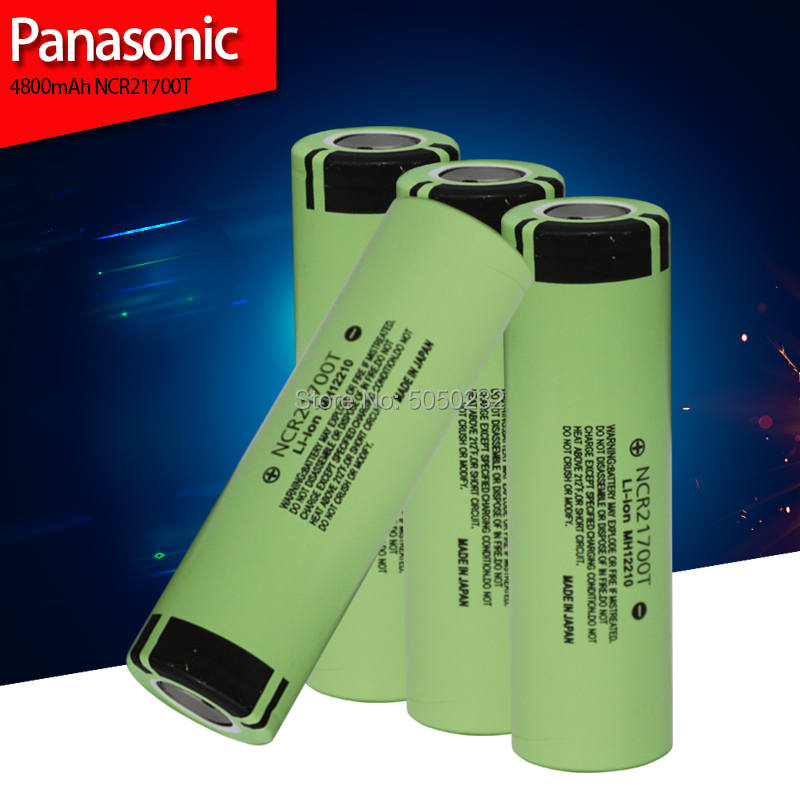 Panasonic NCR21700T 4800mah Power Battery 3.7V 21700 Lithium Batteries For Electric Drill Toy Electronic Cigarettes