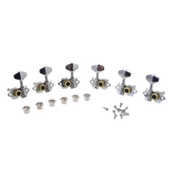 OOTDTY 3R 3L For Grover Style Guitar String Tuner Open Gear Tuning Peg Machine Heads image