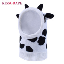 New Baby Boys Soft Warm Knitted Caps Girls Animal Hats Scarf Sets Zebra Ears Winter 2019 Kids Warm Beanie Skull Cute Party Hats