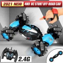 1:14 2,4G 4WD Uhr Geste Sensor Control RC Stunt Auto Kreuz Spray Verformung Twist Geste Sensing Drift Fahrzeug für kinder