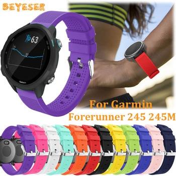 Sport silicone band For Garmin Forerunner 245 245M 645 wristband replacement 20mm For Samsung Galaxy watch active 2 watch strap 20mm silicone watch band strap for garmin forerunner 645