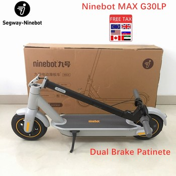 KickScooter Original Ninebot MAX G30LP, Patinete eléctrico de 30 km/h, con aplicación Ninebot, freno doble, 10 pulgadas, 2020