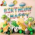 1 комплект прогулочные животные тема День рождения воздушные шары рыбы динозавра Фольга шар для маленьких мальчиков и девочек День рождени...