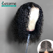 Wigs Human-Hair Lace Pre-Plucked Hairline T-Part Deep-Wave Indian Bob HD Getarme 1x6