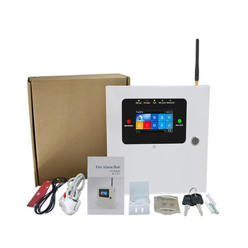 Fireproof Touch screen WIFI  Fire  Alarm system Home security 2G GSM 8 wired zones 433mhz Fire smoke detector APP control digoo dg hama all touch screen alexa version 433mhz gsm