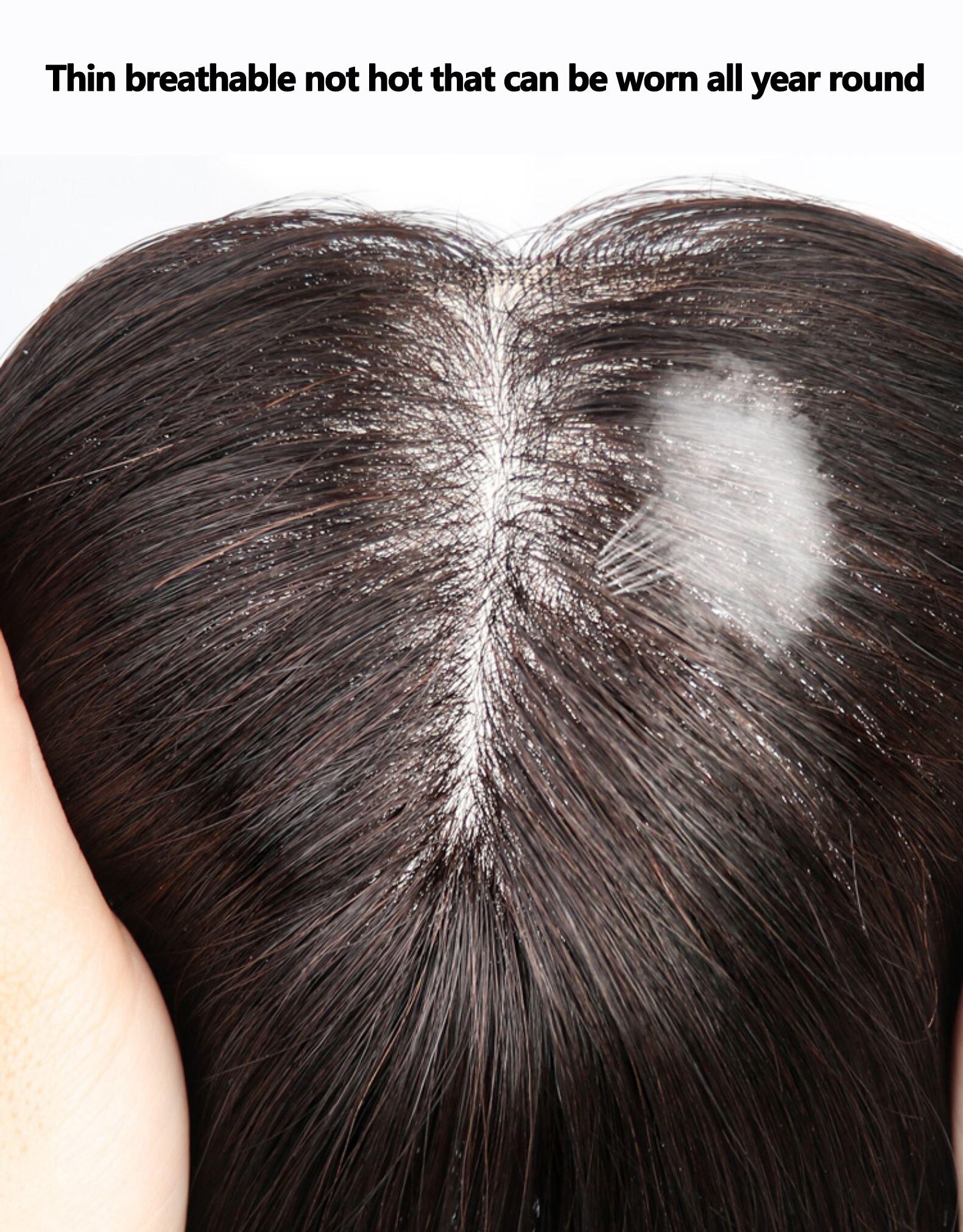 Material de Seda em Linha Clipe em Franja Grampos de Cabelo Peruca de Cabelo para as Mulheres para as Mulheres Reta Cabelo Humano Brasileiro Remy 100%