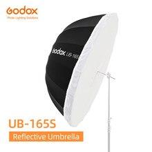 Godox UB-165S 65 pouces 165cm parabolique noir réfléchissant parapluie Studio lumière parapluie avec noir argent diffuseur couverture tissu
