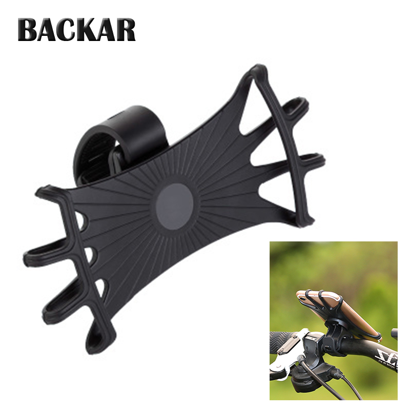 Silicone Motorcycles Bike Phone Holder For <font><b>kawasaki</b></font> z750 z900 z800 z1000 versys <font><b>650</b></font> er6n z650 <font><b>ninja</b></font> 300 husqvarna motocross image