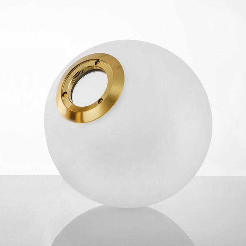 Wysokiej jakości okrągła kula szklany wisiorek abażur odporny na eksplozje w wysokiej temperaturze nieodkształcalny szklany klosz z mlecznego szkła
