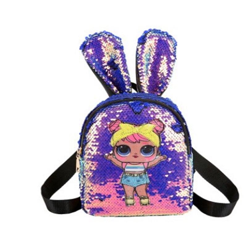 Cute Mini Backpack Girls Pu Leather Shoulder Bags For Girls Kids Multi-Function Small Backpack Teenager School Backpack Girls