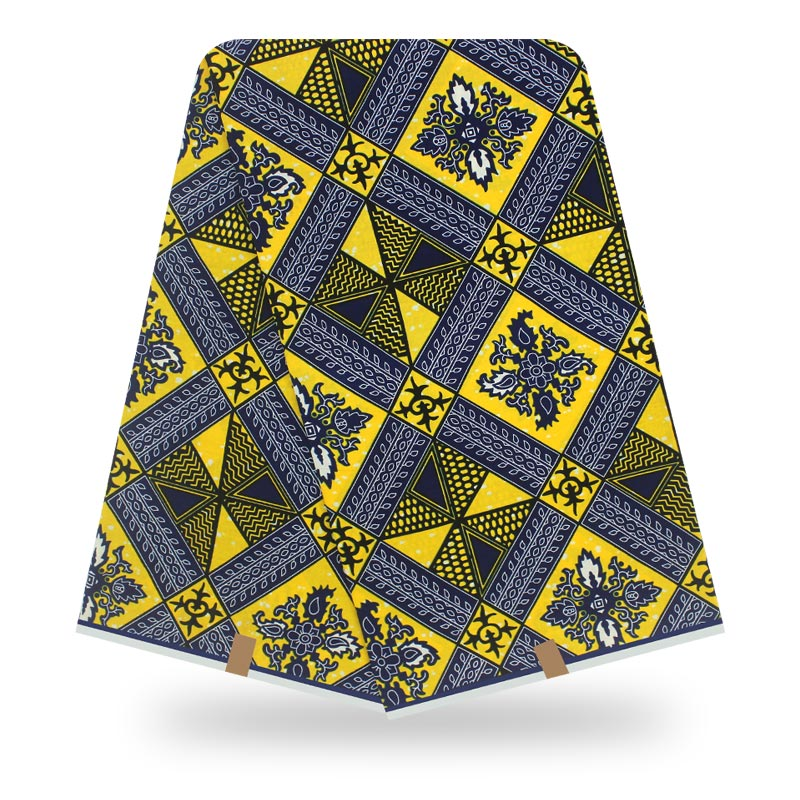African Real African Cotton 6Yard Wax Print Floral Real Wax Fabric For Women Party Dress Making Crafts