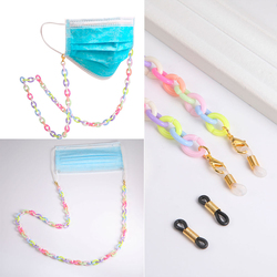 Colorful Mask Lanyard Acrylic Glasses Chain Mask Neck Holder Anti-lost Sunglasses Straps Cord Eyewear Accessories Wholesale