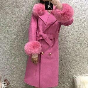 Image 5 - ขนสัตว์จริงฟ็อกซ์ขนสัตว์ 2019 ฤดูใบไม้ร่วงฤดูหนาวผู้หญิงOutwearแจ็คเก็ตWarmยาวสีเทาขนสัตว์เสื้อแจ็คเก็ตขนสุนัขจิ้งจอกจริง