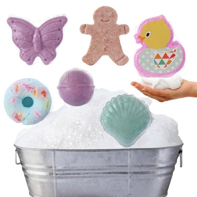 8 Styles Bath Salt Skin Whitening Natural Skin Care Cloud Bombs Ball Exfoliating Rainbow Bath Salt Moisturizing Bubble Bath Salt 1