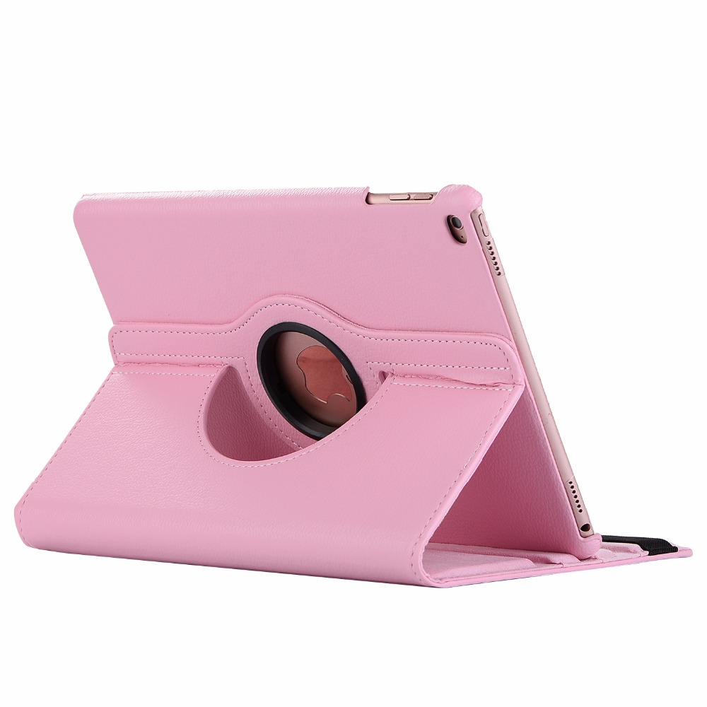 pink Orange 360 Degree Rotating PU Leather Flip Cover Case For iPad 10 2 2020 2019 8th 7th
