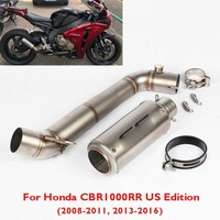 CBR1000RR Motorcycle Slip on Exhaust Muffler System Link Connect Pipe for Honda CBR1000RR 2008 2011 2013 2016 US Edition