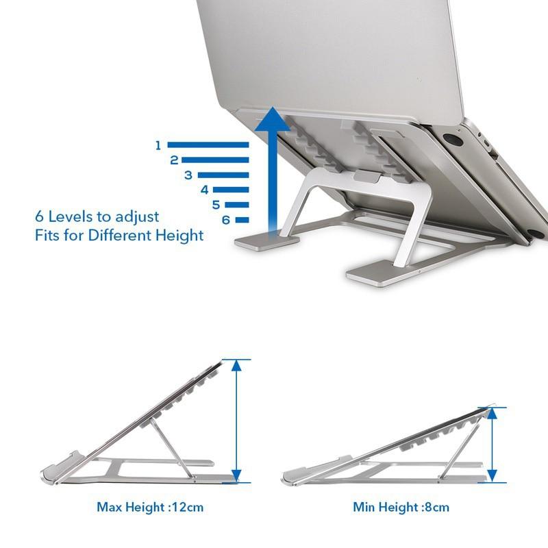 Notebook Table Aluminum Alloy Portable Bracket Desktop Computer Shelf Foldable Multi-function Base Cooling Desk Laptop Stand