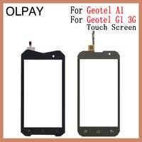 """OLPAY Für Geotel A1 4,5 """"Touch Screen Digitizer Für Geotel G1 3G 5,0"""" Touch Panel Touchscreen Sensor front Glas Reparatur Teile"""