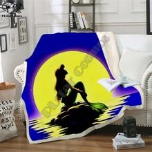 цена на Cartoon Mermaid Blanket Design Flannel Fleece Blanket Printed Children Warm Bedspreads Quilt Throw Blanket Kids Blanket style-5