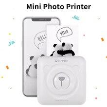 Mini impresora portátil de papel inalámbrico Bluetooth, impresión térmica de bolsillo, conexión USB