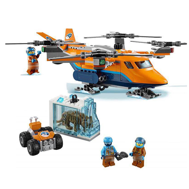 310pcs Arctic Air Transport Compatible With Legoinglys 60193 City Model Building Block Toy For Children Gifts