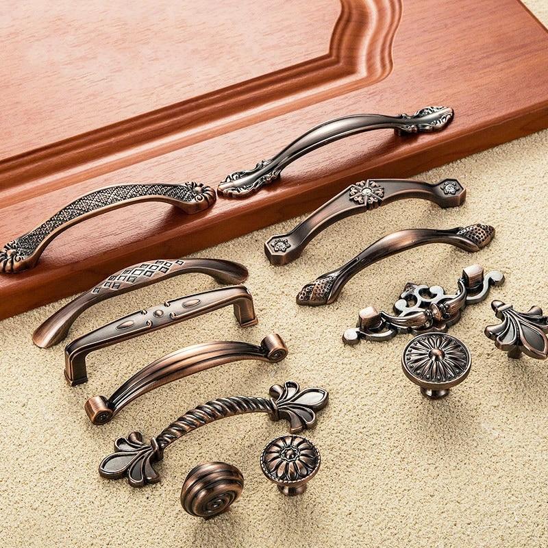 Useful Chic Kitchen Wardrobe Bronze Knob Cabinets Drawer Cupboards Pull Handle