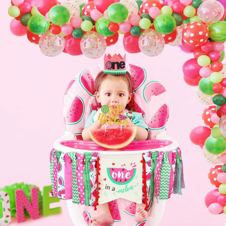 Melancia, tema festa, bolo, festa, bolo, balões, bandeira de verão, festa de piscina, aniversário, decoração de chá de bebê, faça você mesmo, suprimentos para casa, 1 conjunto
