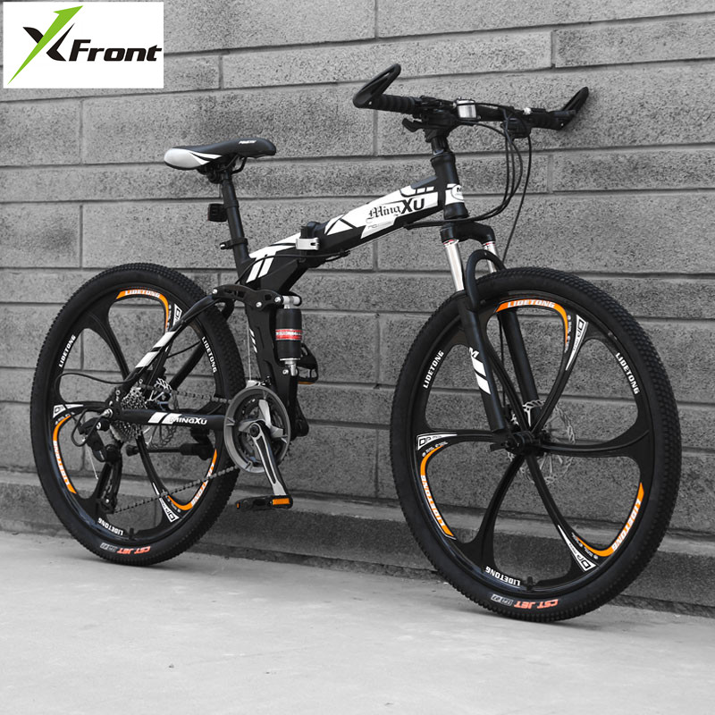 New Carbon Steel Frame Mountain Bike 27 Speed 24/26 Inch Wheel Folding Bicycle Soft Tail Outdoor Sports Downhill MTB Bicicleta