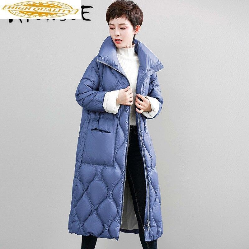 90% White Duck Down Jacket Winter Coat Women Clothes 2020 Down Coat Korean Puffer Jacket Warm Parka WFNK18828 YY2009