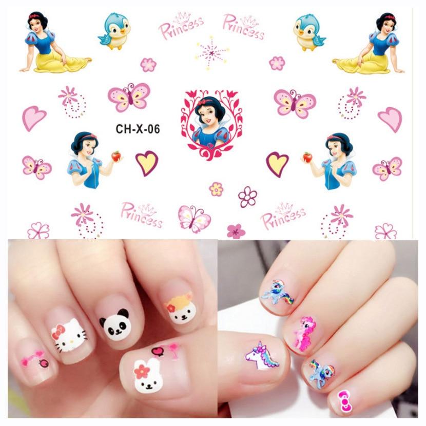 Kids Princess  Frozen Elsa Anna Nail Stickers Toy  New CartoonSofia White Snow Mickey Girls Beauty  Pretend Toys Gift