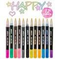 12 Цвет металлический Краски маркер для белой доски комплект двойная линия ручка контурных блеск для рисования Краски ing хлопковых школьные ...
