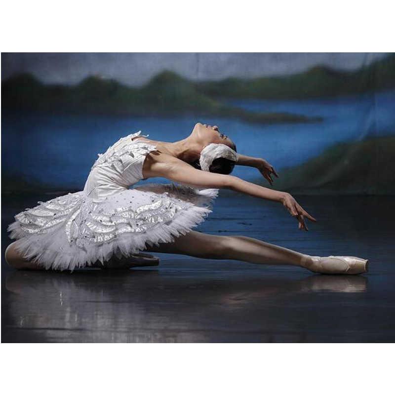 5D FAI DA TE Diamante Ballerina Pittura di Diamante Del Ricamo ballerino di danza classica Foto Di Decorazioni di Strass Pieno di Pittura di Diamanti Quadrati L876